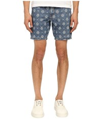 Love Moschino Logo Print Denim Shorts Denim Men's Shorts Blue