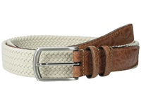Torino Leather Co. 32Mm Italian Woven Multi Cotton Elastic Beige Men's Belts