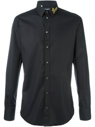 Dolce And Gabbana Love Patch Shirt Black