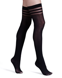 Alice Olivia Opaque Thigh High Stockings By Pretty Polly Black