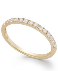 Arabella 14K Gold Ring Swarovski Zirconia Wedding Band 1 Ct. T.W. Clear