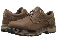 Caterpillar Tyndall Esd Steel Toe Dark Beige Men's Lace Up Casual Shoes Brown