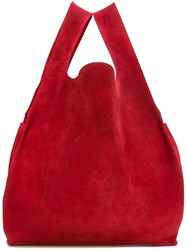 Maison Martin Margiela Mm6 Shopping Tote Red