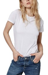 Women's Topshop Washed Cotton Tee White