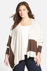 Sejour Reversible Cape Sweater Plus Size Brown