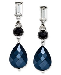 Inc International Concepts Silver Tone Triple Drop Earrings Only At Macy's