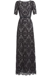 Catherine Deane Silk Lace Gown Multicolor
