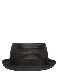 Diesel Stitched Paper Straw Effect Pork Pie Hat