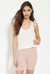Forever 21 Cotton Blend Bike Shorts Light Pink