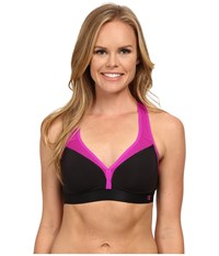 Champion Curvy Bra Black Raspberry Shock Women's Bra