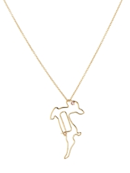 Hillier Sapphire And Yellow Gold Deer Necklace
