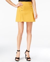 Xoxo Juniors' Button Front Mini A Line Skirt Gold