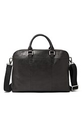 Men's Fossil 'Mercer' Leather Work Bag Black