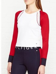 Tommy Hilfiger Vivianna Long Sleeve Sports Top White