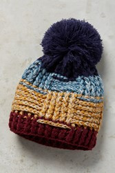 Anthropologie Thatched Pom Beanie Navy