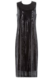 Dkny Sequin Midi Dress Black