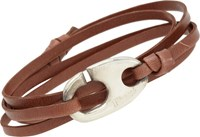 Miansai Brummel Hook Wrap Bracelet Brown