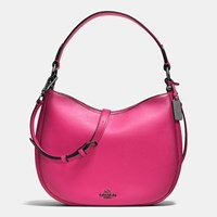 Coach Nomad Crossbody In Burnished Glovetanned Leather Dark Gunmetal Cerise