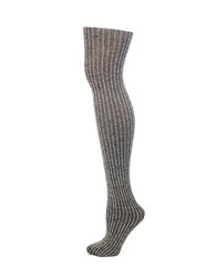 Lemon Rib Knit Tights Shadow