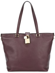 Dolce And Gabbana 'Dolce' Shopper Tote Pink And Purple