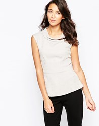 Closet High Neck Top In Jacquard Grey