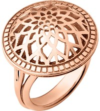Links Of London Timeless 18Ct Rose Gold Vermeil Domed Ring