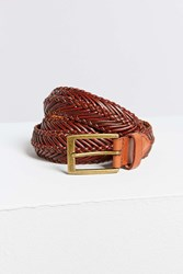 Urban Outfitters Weave Belt Brown