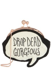 Sophia Webster Drop Dead Gorgeous Beaded Clutch White And Black