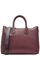 Michael Kors Collection Leather Tote Red