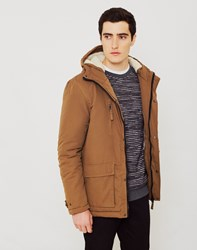 The Idle Man Sherpa Lined Parka Tan