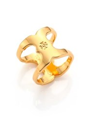 Tory Burch Gemini Link Ring Shiny Gold