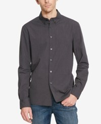 Kenneth Cole Reaction Men's Dot Print Long Sleeve Shirt Black Combo