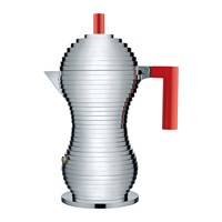 Alessi Pulcina Espresso Coffee Maker Red Large