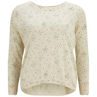 Great Plains Women's Starry Knit Jumper Cream Tea