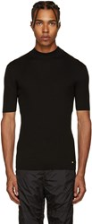 Versace Black Ribbed Sweater