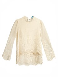Mih Jeans Esbaran Crochet Lace Blouse Ivory