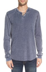 The Rail Men's Notch Neck Burnout Thermal Navy Iris Burnout