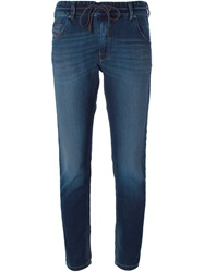 Diesel Drawstring Waist Tapered Jeans Blue