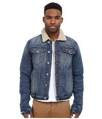 Joe's Jeans Joey Shearling Jacket Graves Men's Coat Blue