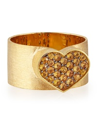 Nanis 18K Gold Yellow Sapphire Heart Ring Size 8