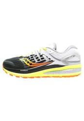 Saucony Triumph Iso 2 Cushioned Running Shoes Schwarz Neongelb Black