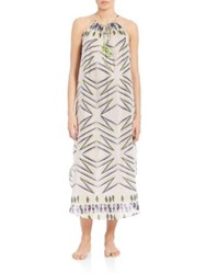 Lalesso Bahati Printed Dress Black White