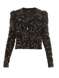 Isabel Marant Felipe Embellished Collarless Jacket Black Multi