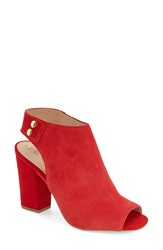 Sole Society 'Easton' Peep Toe Sandal Women Red Suede