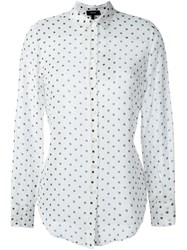 Theory Polka Dot Print Shirt White