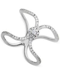 Giani Bernini Cubic Zirconia Openwork Pave Ribbon Ring In Sterling Silver Only At Macy's
