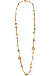 Ben Amun Gold Tone Bead Necklace