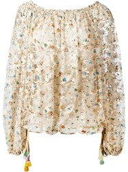 Chloe Floral Lace Top Nude And Neutrals