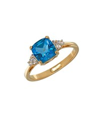 Lord And Taylor Blue Topaz 14K Yellow Gold Ring