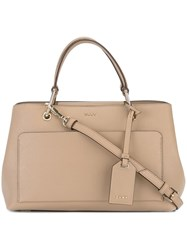 Dkny Medium Front Pocket Tote Nude And Neutrals